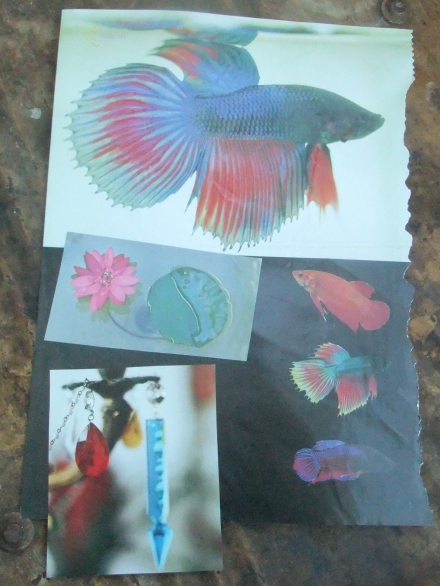 Aqua Montage with Fish