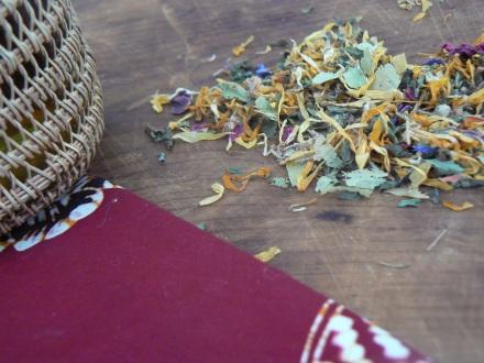 Relaxing Tea Leaf Closeup