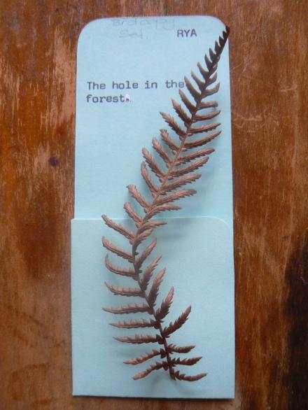 Autumn Leaf Tree Fern Vintage Library Card