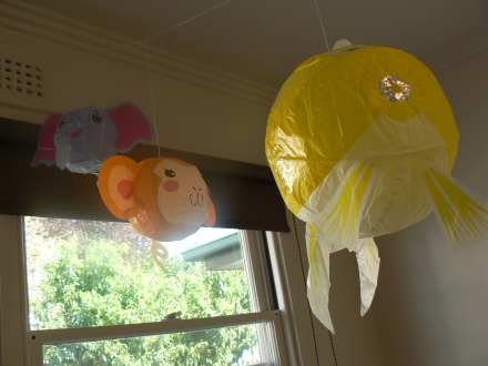 Baby Room Balloons Window