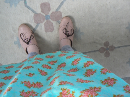 Easter Pink Shoes Floral Dress