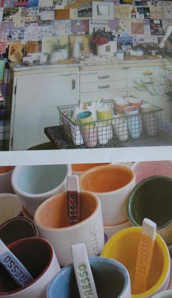 Espresso Paint Pots Artist Studio