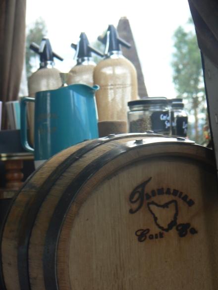 Journeys MONA market bar tasmania cask gin