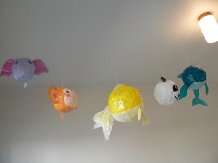 Kamifusen Japanese Paper Balloons Baby Room