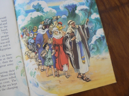 Passover Pesach Moses Sea Children Story Book Illustration