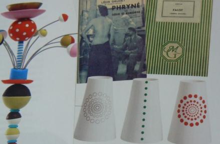 Spots Polka Dots Vase Sculpture