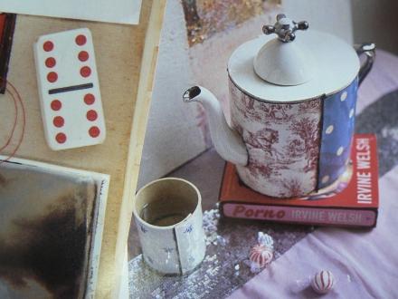 Spots Spotty Dotty Teapot Domino