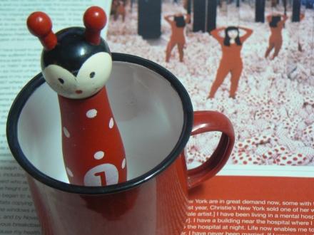 Spots Yayoi Kusama Toy Red Enamel Cup