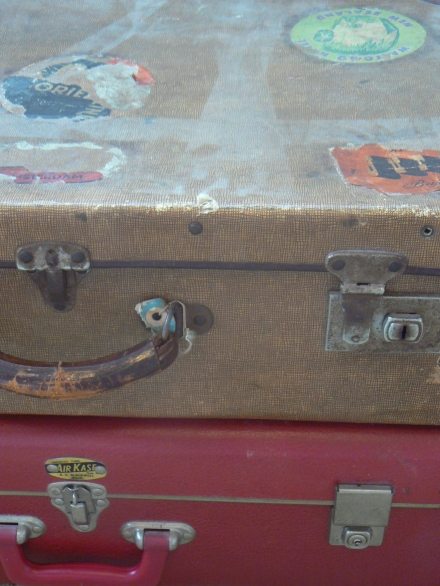 Stuck Vintage Suit Case Travel Labels