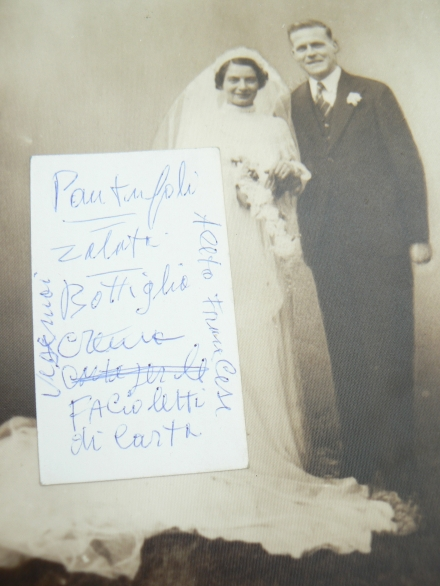 Aeesome Facts Wedding Photo Found Italian Vintage Computer Found Ephemera