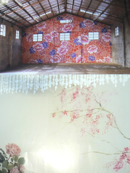 Great Walls Michael Lin Carolyn Quartermaine Floral Mural Painting