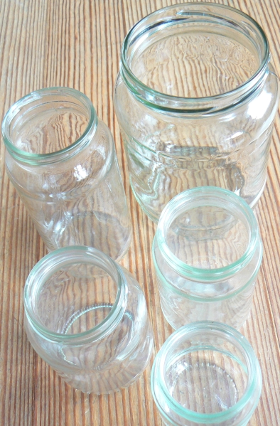 Letting Go Glass Jar Collection Recycle Upcycle