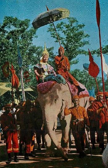 Nang Songkran Vintage Postcard Thailand