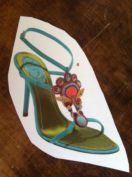 Peacock Rene Caovilla Heels Shoe Beaded Aqua