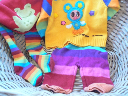 Rainbow Kids Clothes Dress Ups Toddlers Colourful Clothing