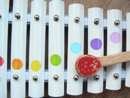 Rainbow Toy Xylophone Dots Spots Kids