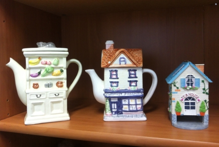 Teapot Collection Chemist Tea House Thrift Shop