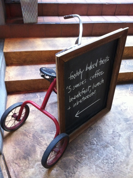 Tricycle Cafe Blackboard Salamanca Arts Centre