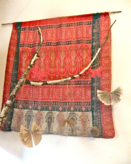 Fired up Tree Branch Vintage Paper Book Page Indian Wall Hanging