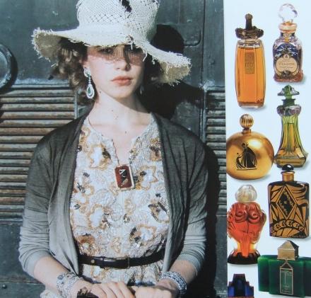 Gold Brocade Dress Ornate Vintage Perfume Scent Bottles