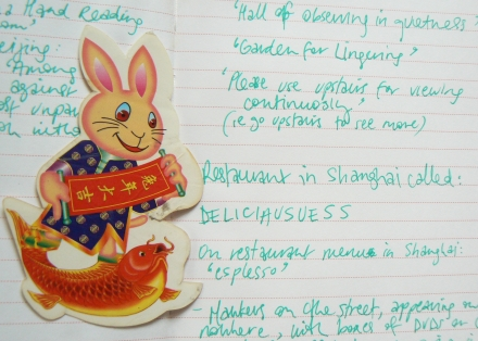 Inspiring Bunny Fish Travel Notes China