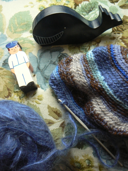 Inspiring Crochet Woollen Hat Sailor Whale Wooden Toys