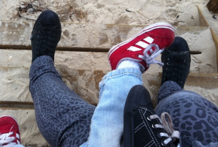Inspiring Sneakers Twins Toddler Feet Legs Beach