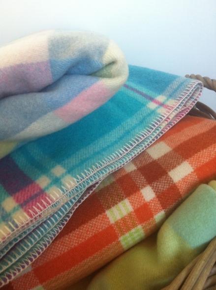 Jumpers Vintage Woollen Wool Blankets Basket