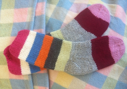 Jumpers Woollen Wool Knitted Striped Socks Blanket