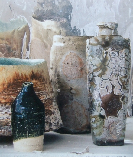 Mud Pottery Vases Crackle Lava Glaze Design