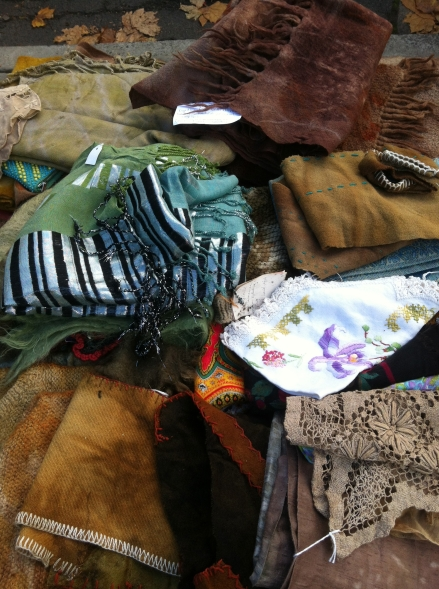Out About Autumn Fall Salamanca Market Natural Dyes Vintage Clothing