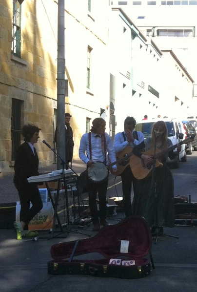 Out About Salamanca Market Foley Artists Band Buskers Music
