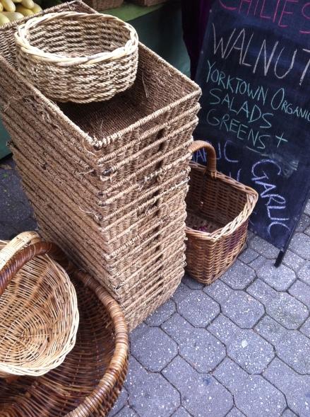 Out About Tasmania Salamanca Market Baskets Fresh Vegetables Organic