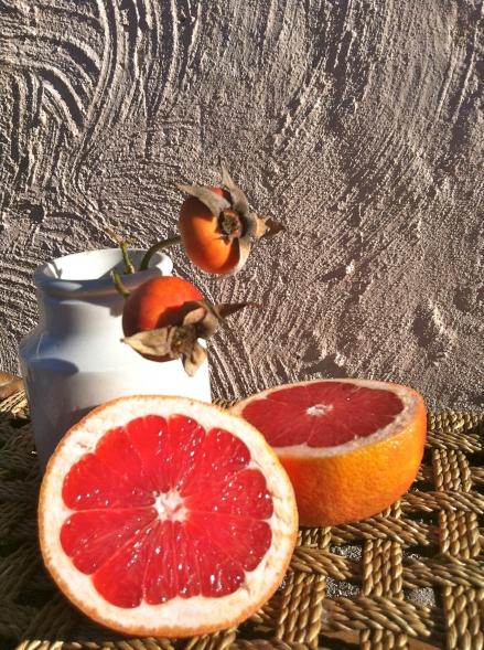 Pink Polenta Cake Citrus Grapefruit Rosehip Sunny Rustic
