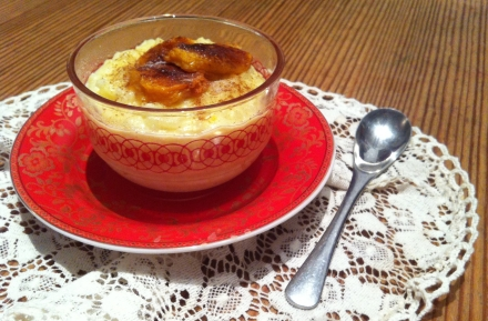 Portugal Arroz Doce Rice Pudding Persimmon Cinnamon