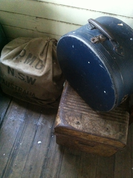 Transported Vintage Luggage Train Station Glenorchy Tasmania