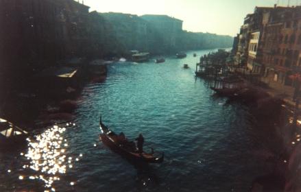 Venice Venezia Grand Canal Gondola Gondolier Boats Reflections