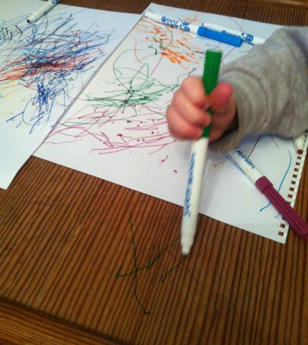 Full toddler scribble marker drawing doodle furniture table