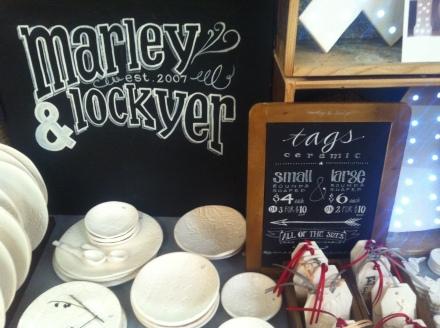 Market Hobart Marley Lockyer Hand Lettering Sign
