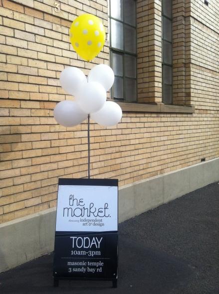 Market Hobart Masonic Hall Balloon A Frame Sign