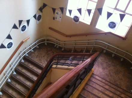 Market Hobart Pop Up Shop Stairs Bunting