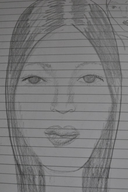 Art Travel Journal Diary Drawing Woman Face