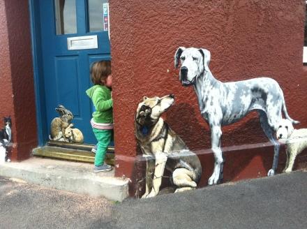 Lefotvers Many Cha Cha Toddler Child Vet Pets Mural Trompe Loeil