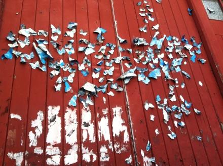 Leftovers Many Cha Cha Butterfly Street Art Launceston