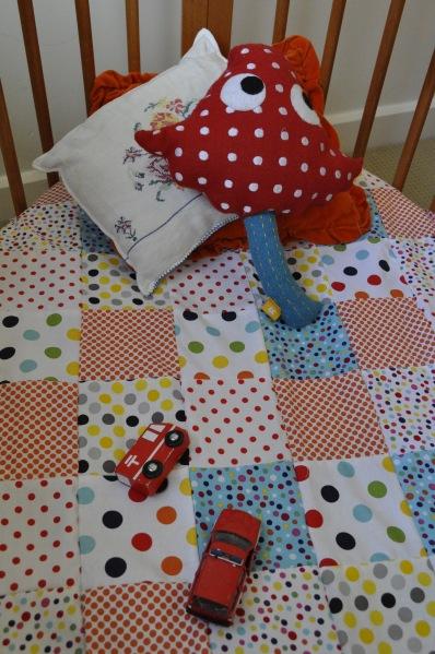 DIY Polkadot Quilt Cover Princess Tina Cushion Stokke