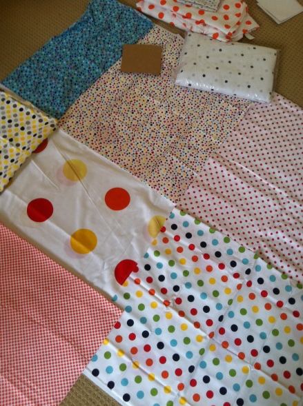 DIY Spots Crib Cot Quilt Toddler