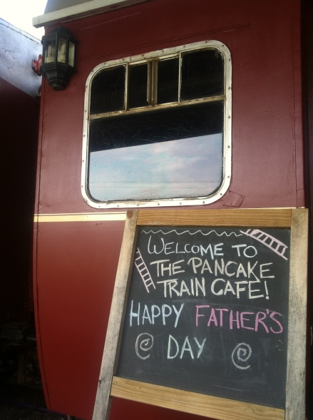 Fathers Day Dad Pancake  Cafe Train Margate Tasmania