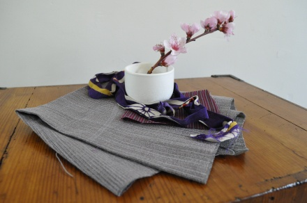 Japan Blossom Textile Kimono Vintage Obi