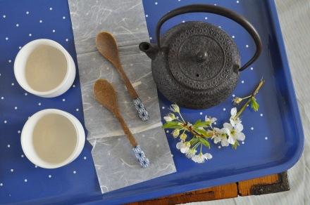 Japan Tea Blossom Lacquerware Tray