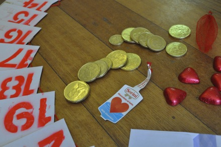 Advent Calender Christmas Chocolate Coins Hearts Letters
